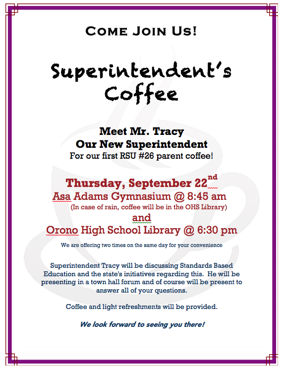 Superintendent's Coffee
