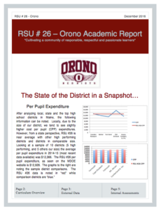 RSU 26 Academic Report