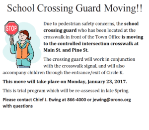 Relocation of School Crossing Guard
