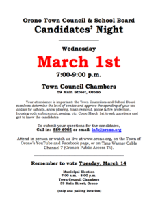 School Board Candidates' Night
